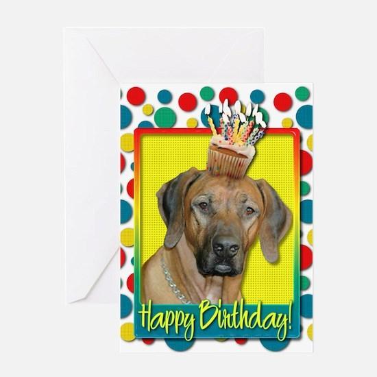 Birthday Cupcake - Ridgeback Greeting Card