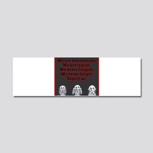 Anonymous Car Magnet 10 x 3