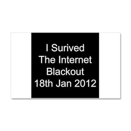 I Survived Internet Blackout 2012 Car Magnet 20 x