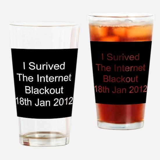 I Survived Internet Blackout 2012 Drinking Glass