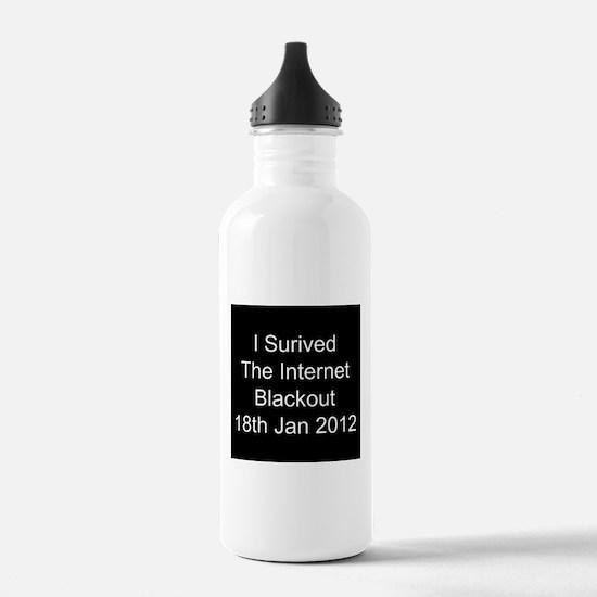 I Survived Internet Blackout 2012 Water Bottle