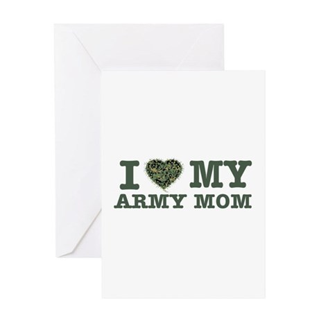 I love My Army Mom Greeting Card