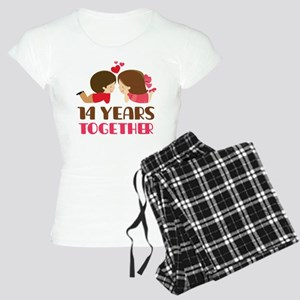 14 Years Together Anniversary Women's Light Pajama