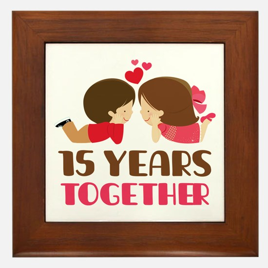 15 Years Together Anniversary Framed Tile
