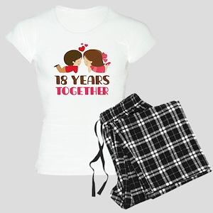 18 Years Together Anniversary Women's Light Pajama