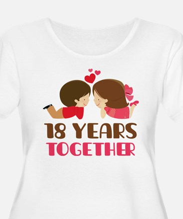 18 Years Together Anniversary T-Shirt