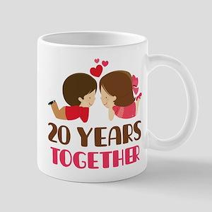 20 Years Together Anniversary Mug