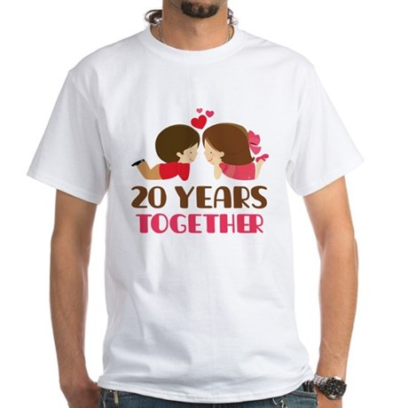 20 Years Together Anniversary White T-Shirt