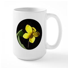 Woodland Yellow Viola Flower Large Mug