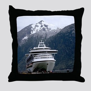 Cruise Alaska Throw Pillow