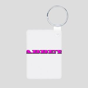 ABBEY Aluminum Photo Keychain