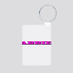 ABBIE Aluminum Photo Keychain