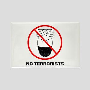 No Terrorists Rectangle Magnet