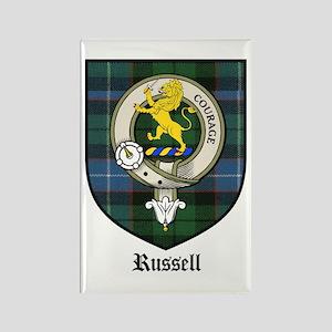 Russell Clan Crest Tartan Rectangle Magnet (10 pac