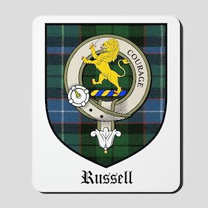 Russell Clan Crest Tartan Mousepad