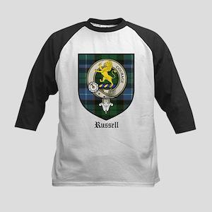 Russell Clan Crest Tartan Kids Baseball Jersey
