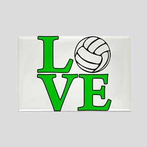 Volleyball LOVE Rectangle Magnet