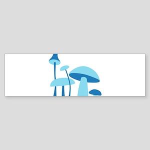 Blue Mushrooms Sticker (Bumper)