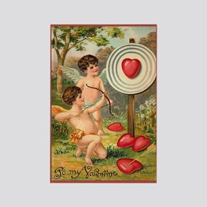 Cupids Heart Target Rectangle Magnet