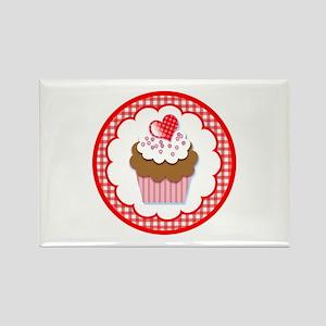 Cupcake Heart Top Rectangle Magnet