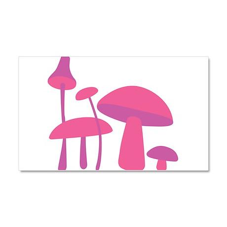 Pink Mushrooms Car Magnet 20 x 12