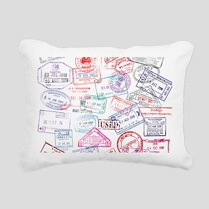 Seasoned Traveller Rectangular Canvas Pillow