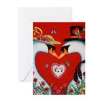 Love at First Flight Greeting Cards (Pk of 20)