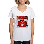 Love at First Flight Women's V-Neck T-Shirt