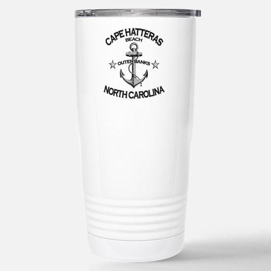 Cape Hatteras Beach, NC Stainless Steel Travel Mug