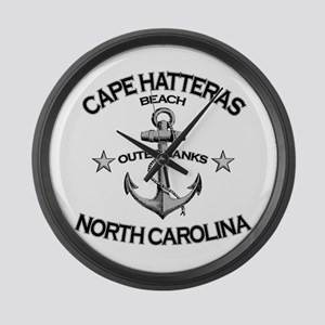 Cape Hatteras Beach, NC Large Wall Clock