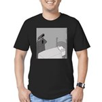 The Grim Flautist (No Text) Men's Fitted T-Shirt (