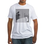 The Grim Flautist (No Text) Fitted T-Shirt