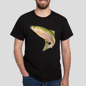 Fish - Leaping Salmon Black T-Shirt