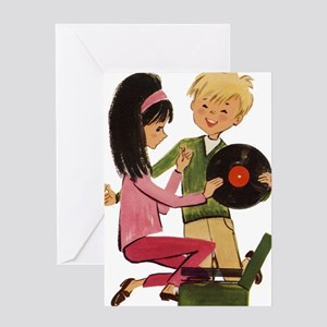 Vinyl Records Love Greeting Card
