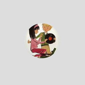 Vinyl Records Love Mini Button