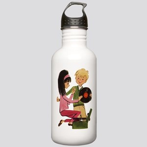 Vinyl Records Love Stainless Water Bottle 1.0L