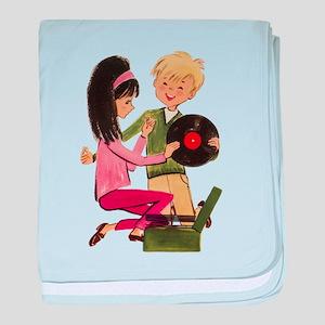 Vinyl Records Love baby blanket