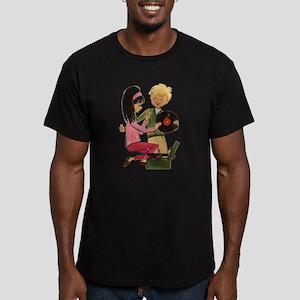 Vinyl Records Love Men's Fitted T-Shirt (dark)