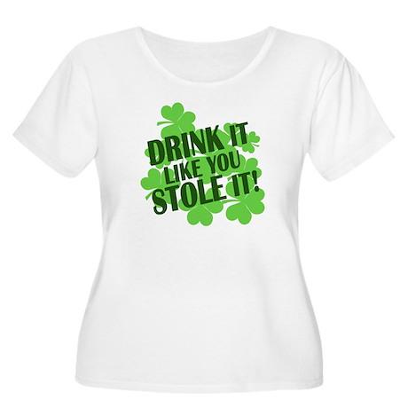 drink it like you stole it Women's Plus Size Scoop