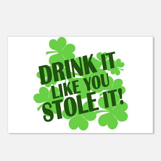 drink it like you stole it Postcards (Package of 8