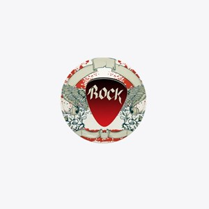 Rock Music Mini Button