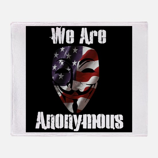We Are Anonymous USA Throw Blanket