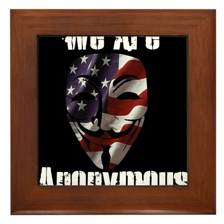 We Are Anonymous USA Framed Tile