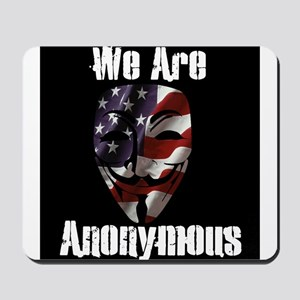 We Are Anonymous USA Mousepad
