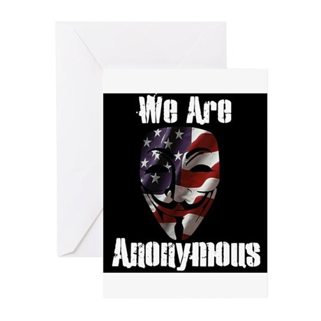 We Are Anonymous USA Greeting Cards (Pk of 20)