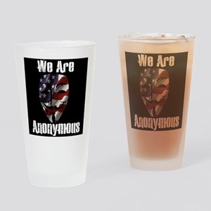 We Are Anonymous USA Drinking Glass