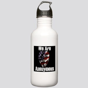 We Are Anonymous USA Stainless Water Bottle 1.0L