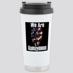 We Are Anonymous USA Stainless Steel Travel Mug