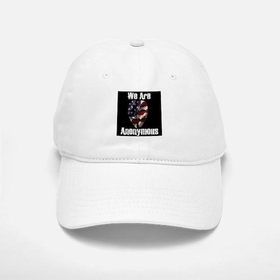 We Are Anonymous USA Baseball Baseball Cap