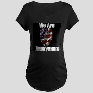 We Are Anonymous USA Maternity Dark T-Shirt